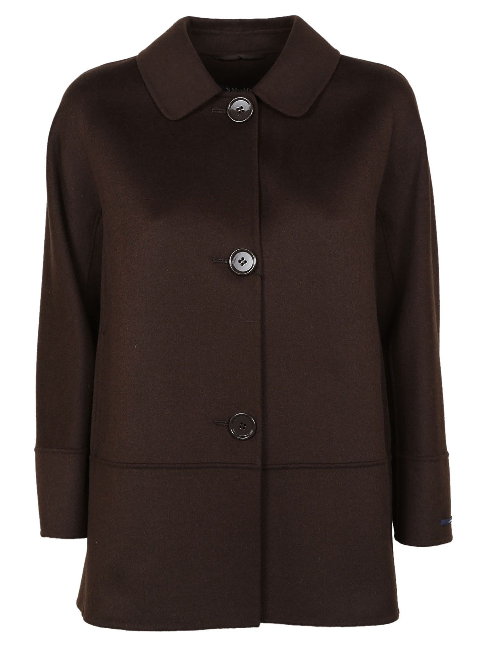 Max Mara  CROPPED SLEEVE SINGLE BREASTED COAT