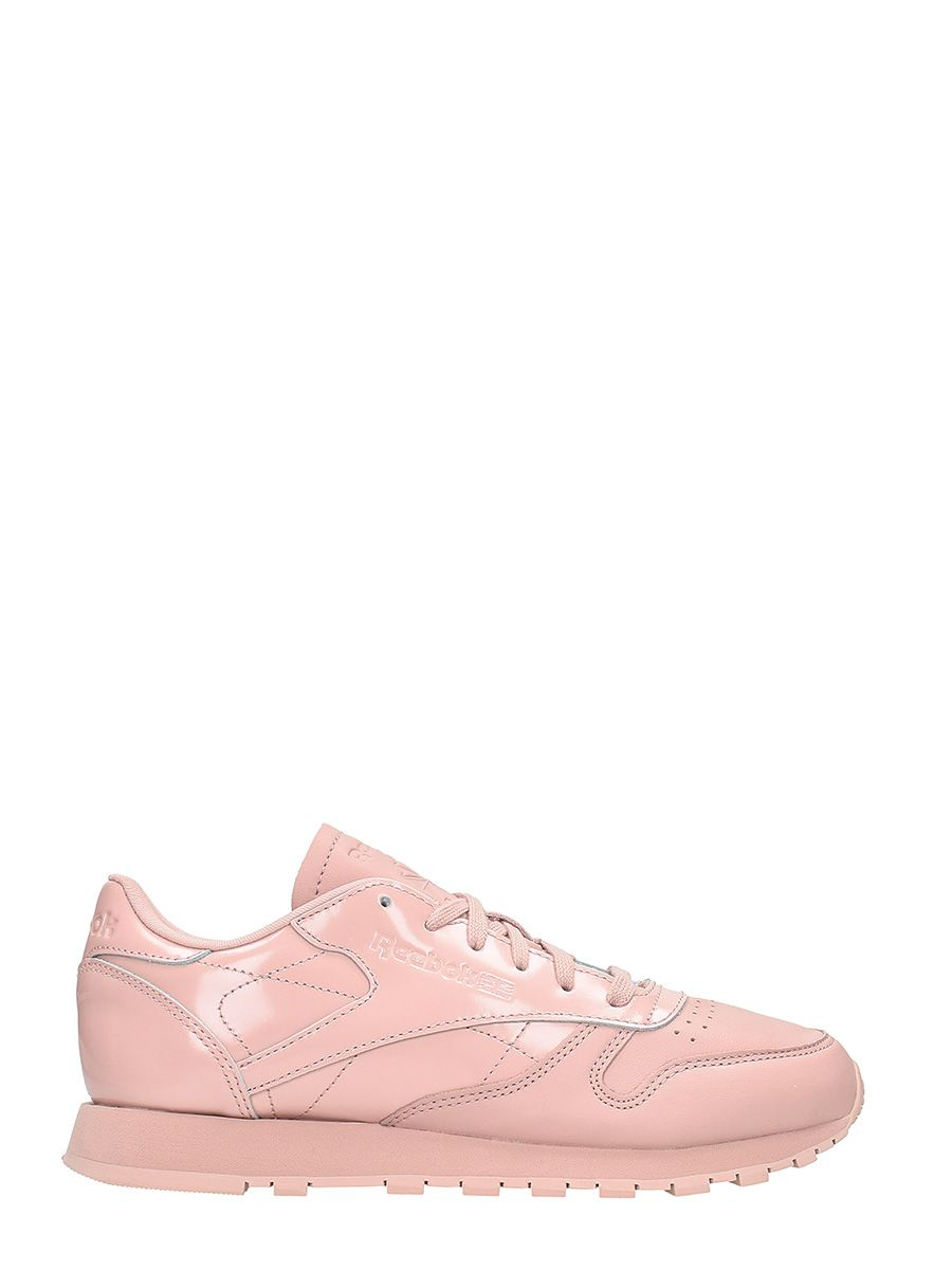 Reebok Classic Pink Leather Sneakers