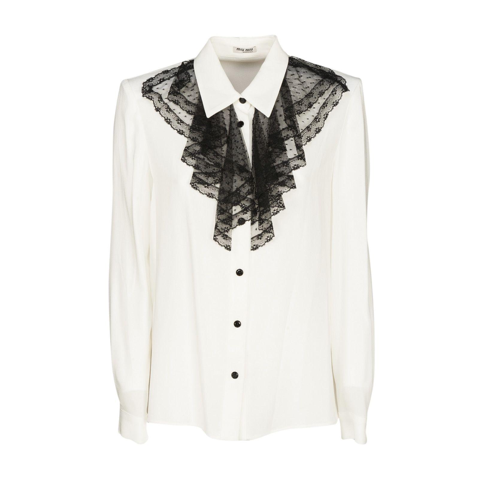 Miu Miu Ruffle Shirt