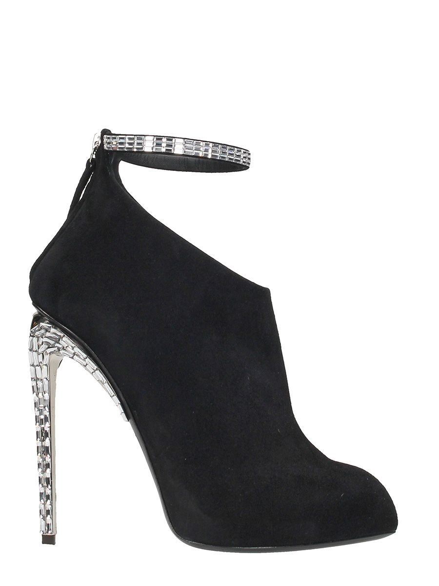 Giuseppe Zanotti Giuseppe For Jennifer Lopez Puchi Black Suede Ankle Boot