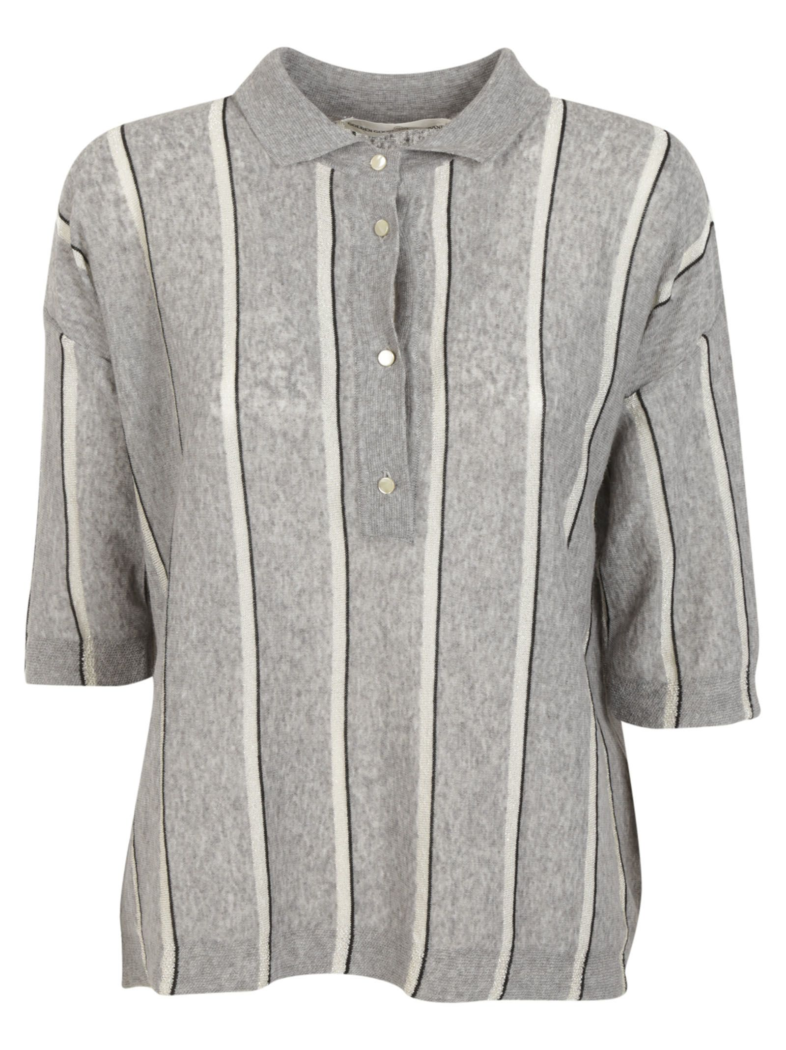 Golden Goose Striped Polo Shirt
