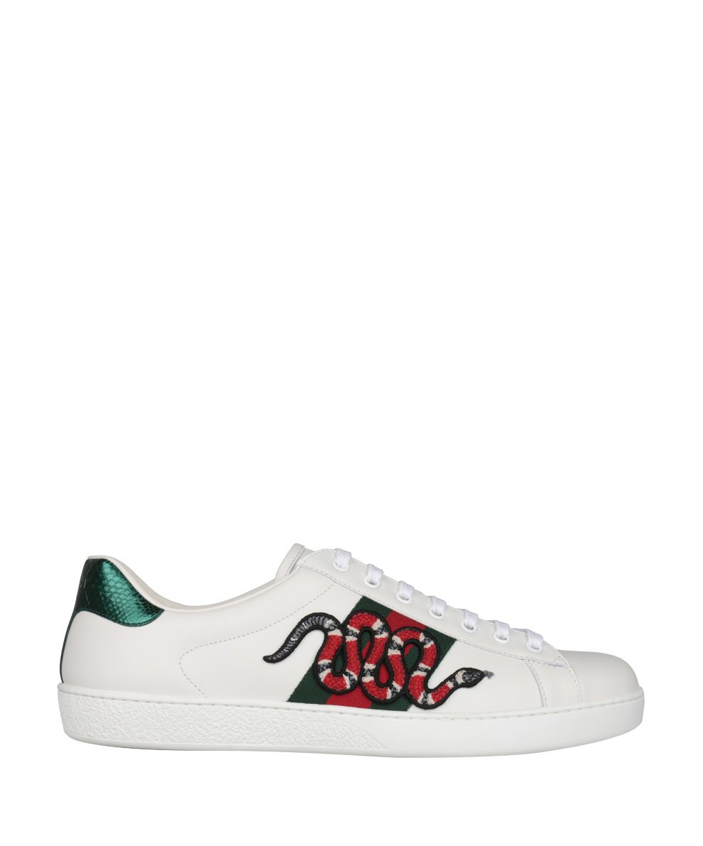 los angeles 23236 b4dc9 Gucci Ace Embroidered Low-top Unisex Sneaker 456230 White