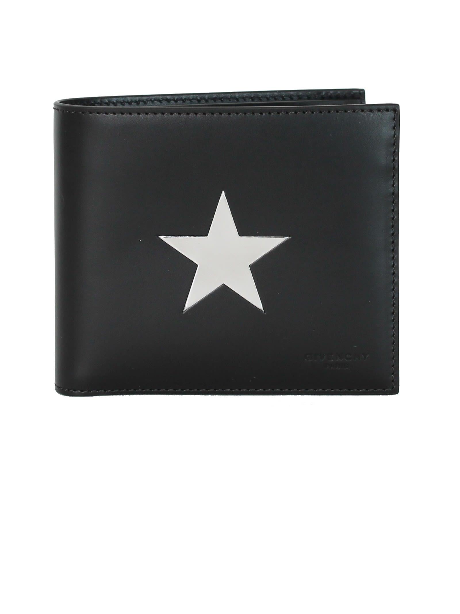 Black Silver Star Billfold
