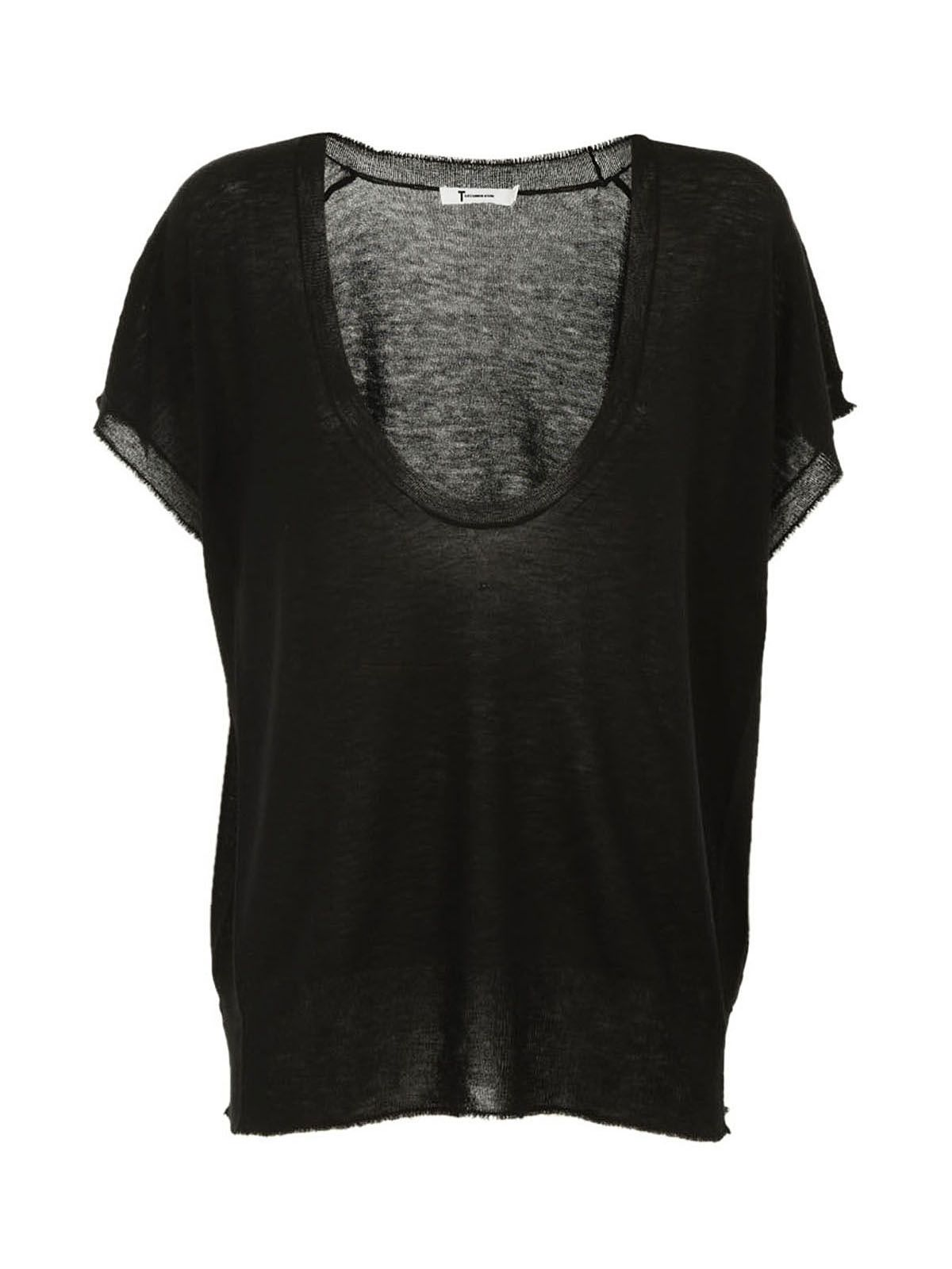 T By Alexander Wang Knit Scoop Neck Top