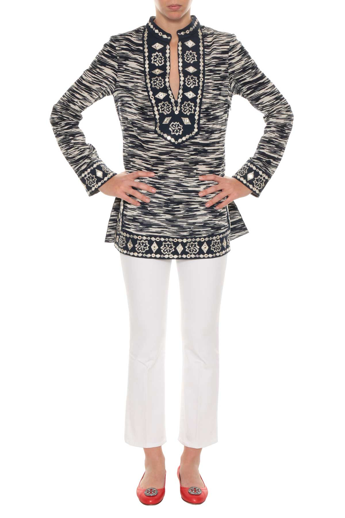 Tory Burch Tory Burch Embroidered Top