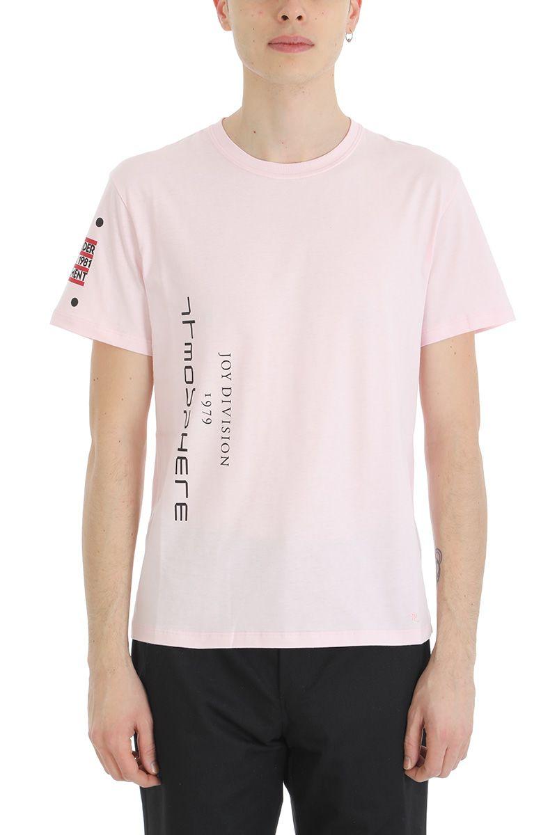 Raf Simons Pink New Order Cotton T-shirt