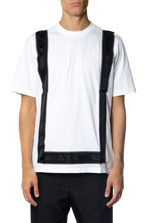 OAMC Contrasting Color Stripe Cotton T-shirt