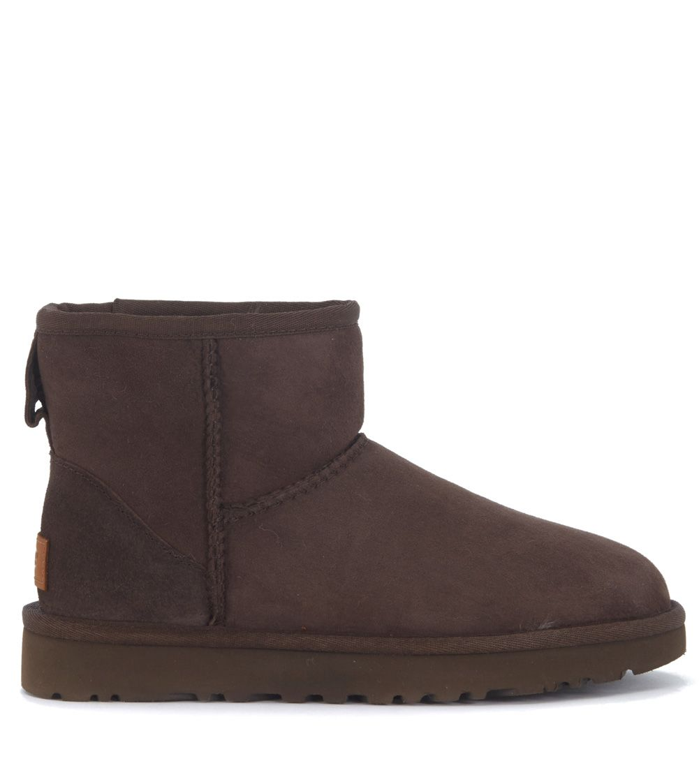 Ugg Classic Ii Mini Ankle Boots In Brown Suede
