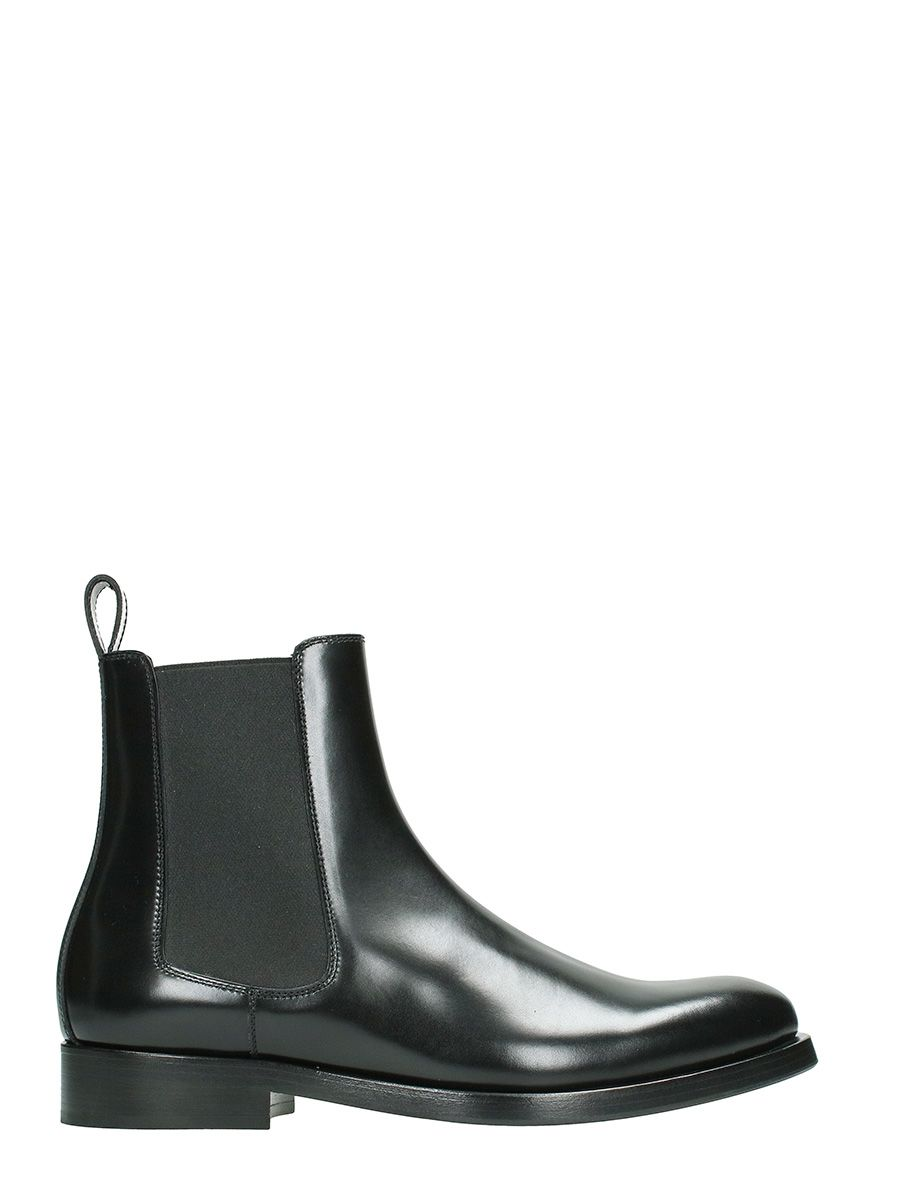Valentino Black Chelsea Leather Boots