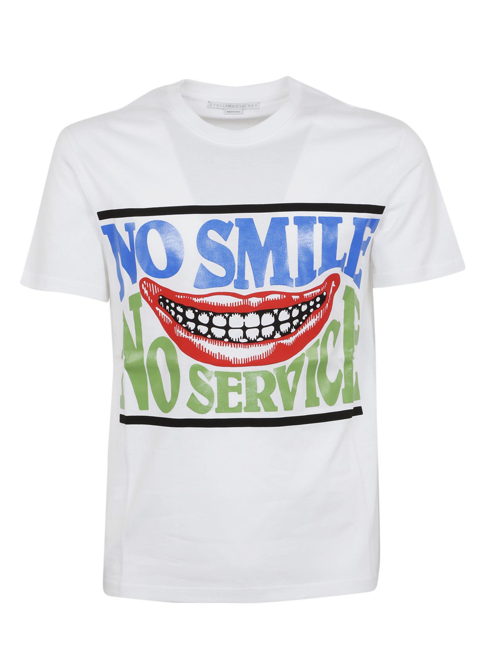 No Service print T-shirt - White Stella McCartney