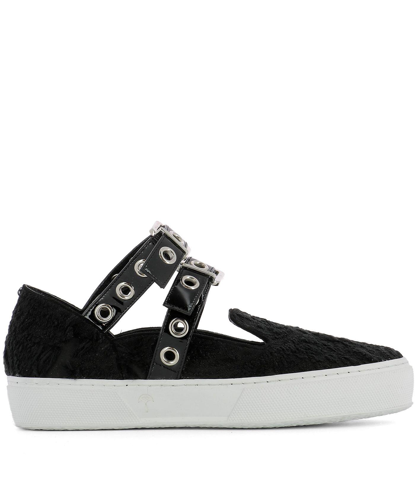 Black Fabric Slip-on