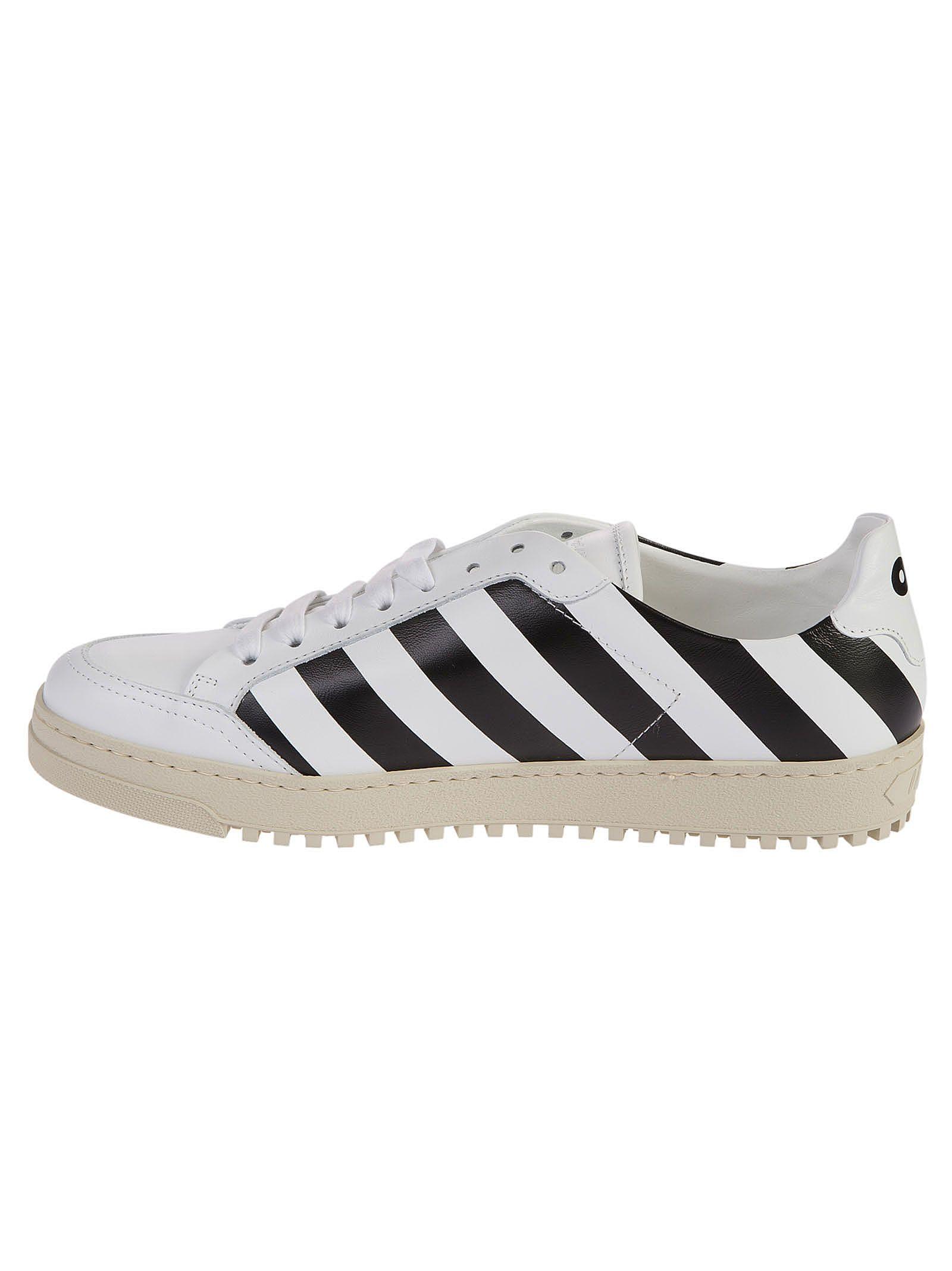 Off-white Diagonal Print Sneakers