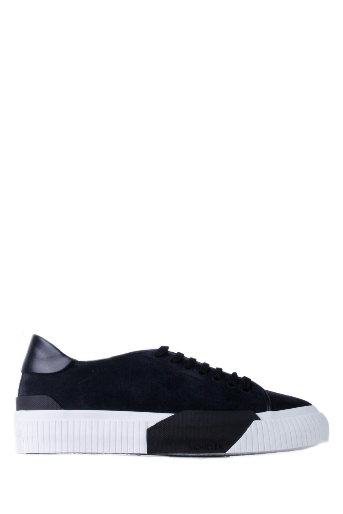 Moncler Black And White Man Conrad Sneakers