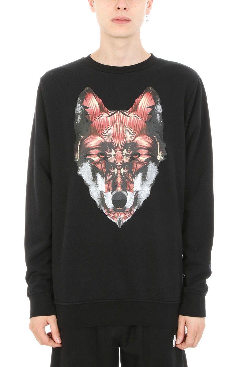 Marcelo Burlon Got Black Cotton Sweatshirt