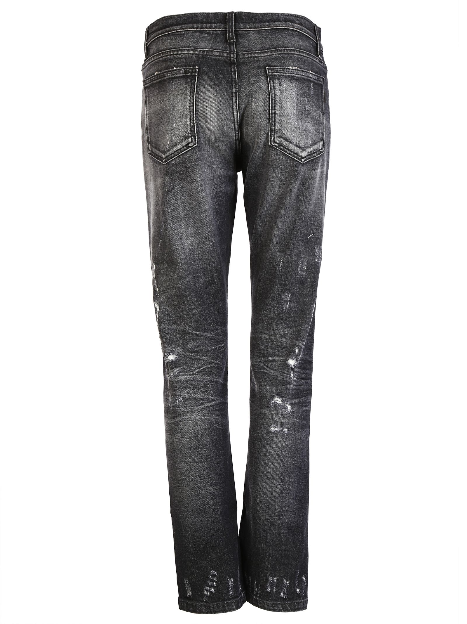 gucci gucci stone washed stretch ripped jeans black women 39 s jeans italist. Black Bedroom Furniture Sets. Home Design Ideas