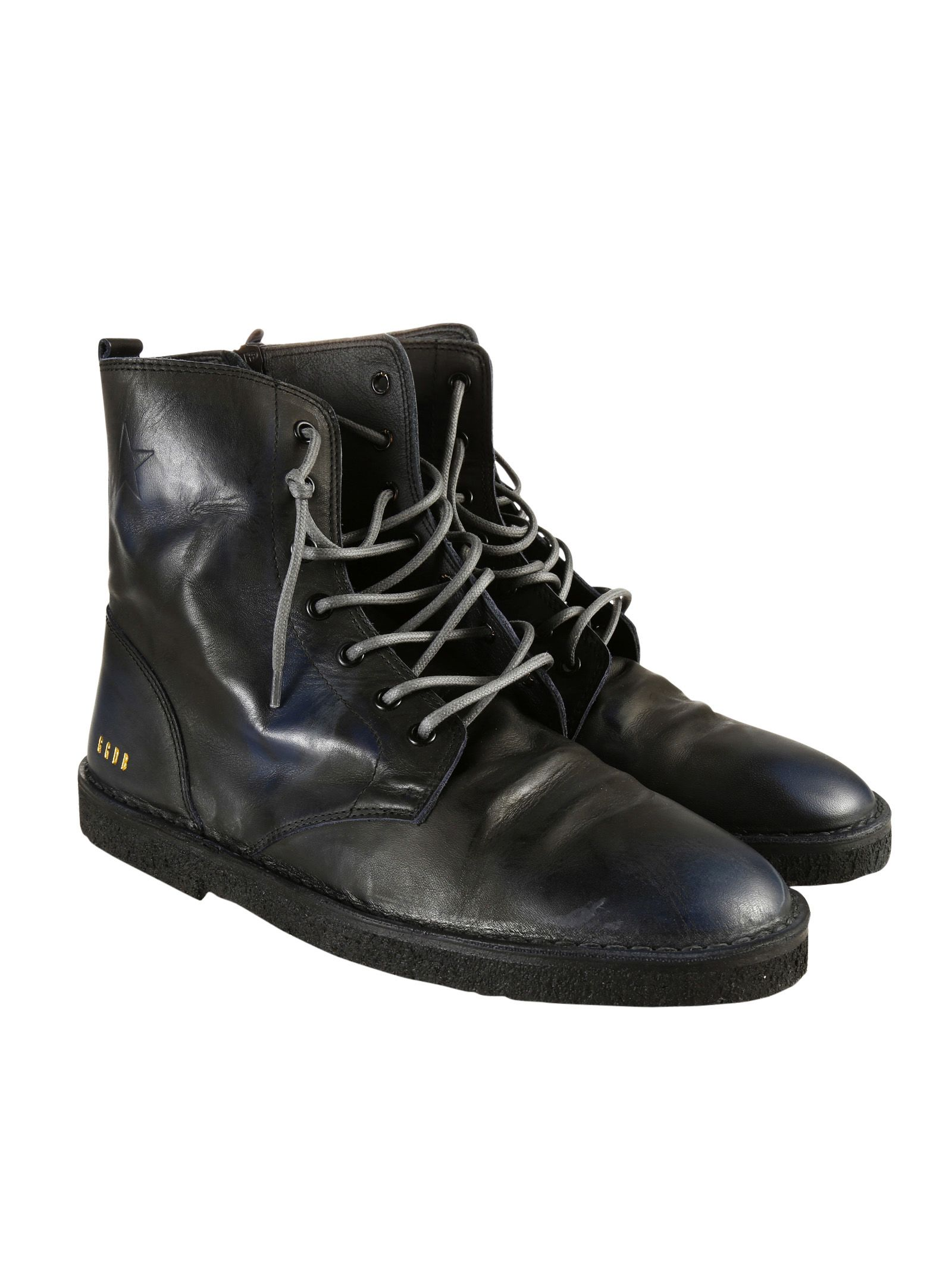 golden goose golden goose deluxe brand black leather