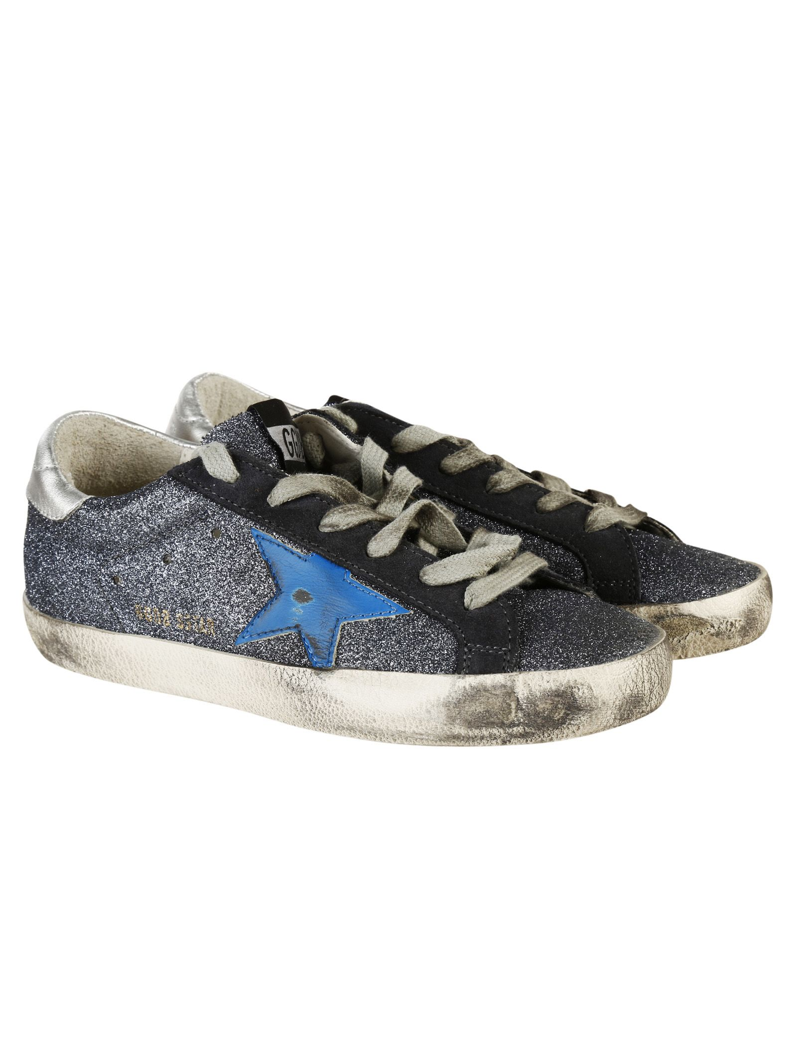 golden goose golden goose super star sneakers blue women 39 s sneakers italist. Black Bedroom Furniture Sets. Home Design Ideas