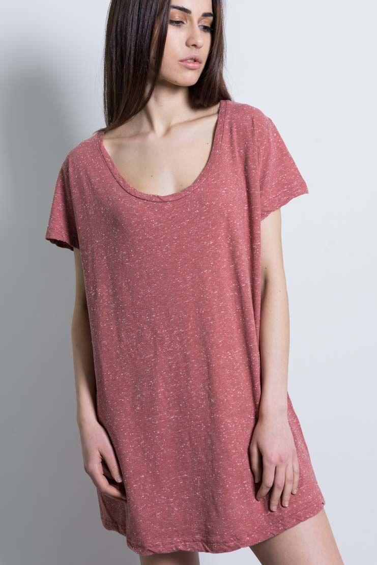 altalana 100 cotton maxi t shirt 510coralred women 39 s short dresses italist. Black Bedroom Furniture Sets. Home Design Ideas