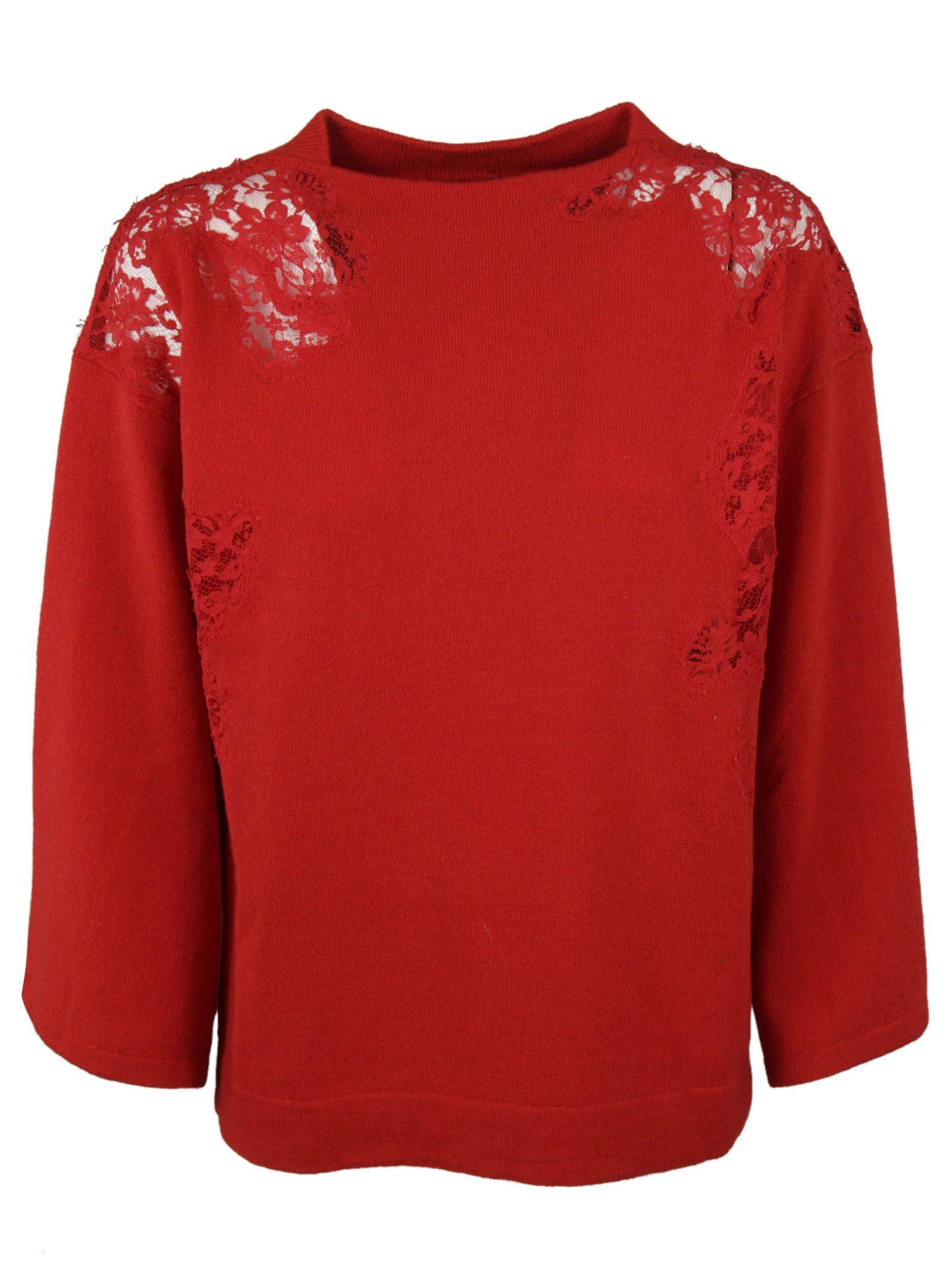 Ermanno Ermanno Scervino See-Through Shoulder Sweatshirt
