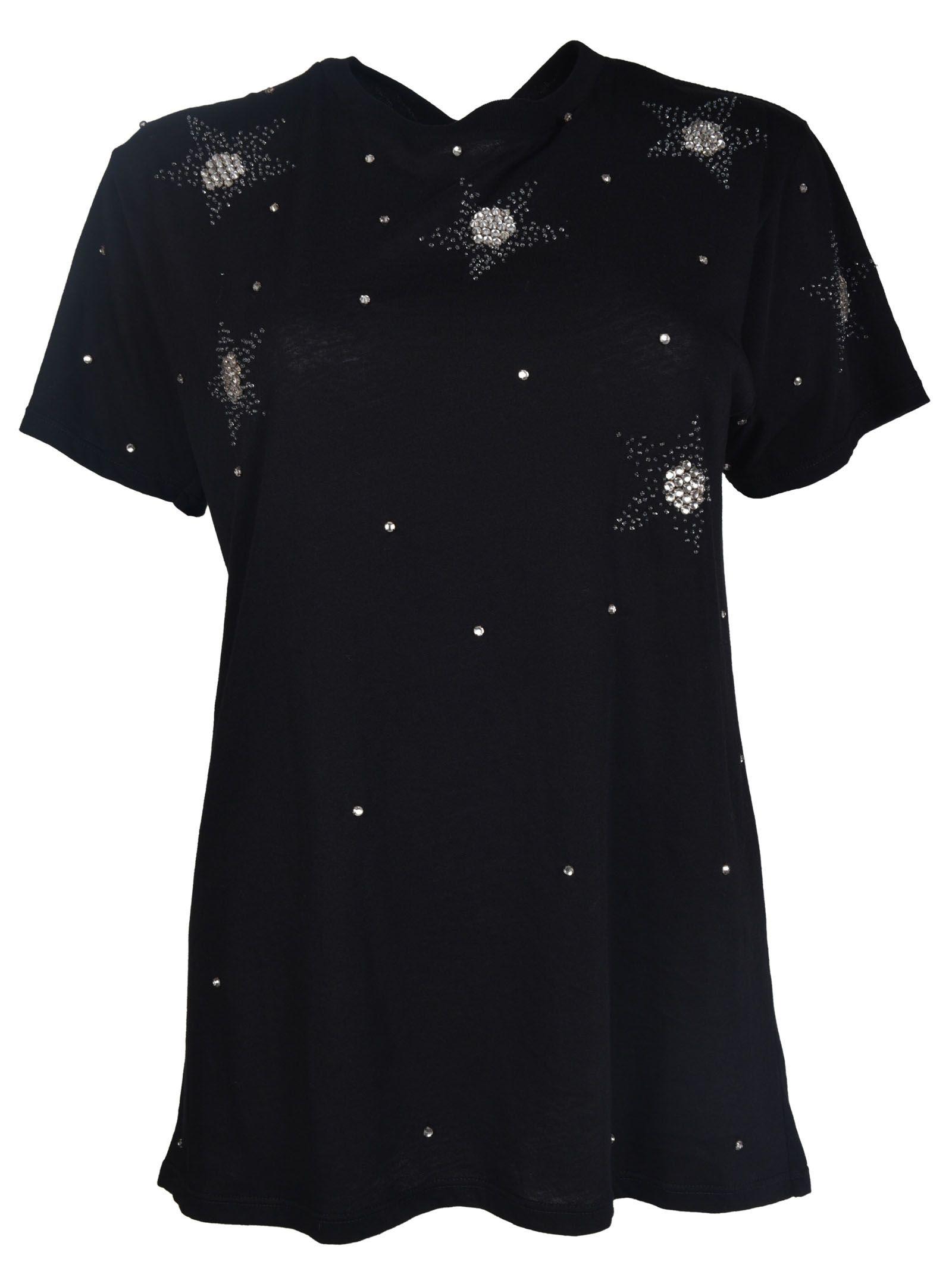 Saint Laurent Star Embellished T-Shirt