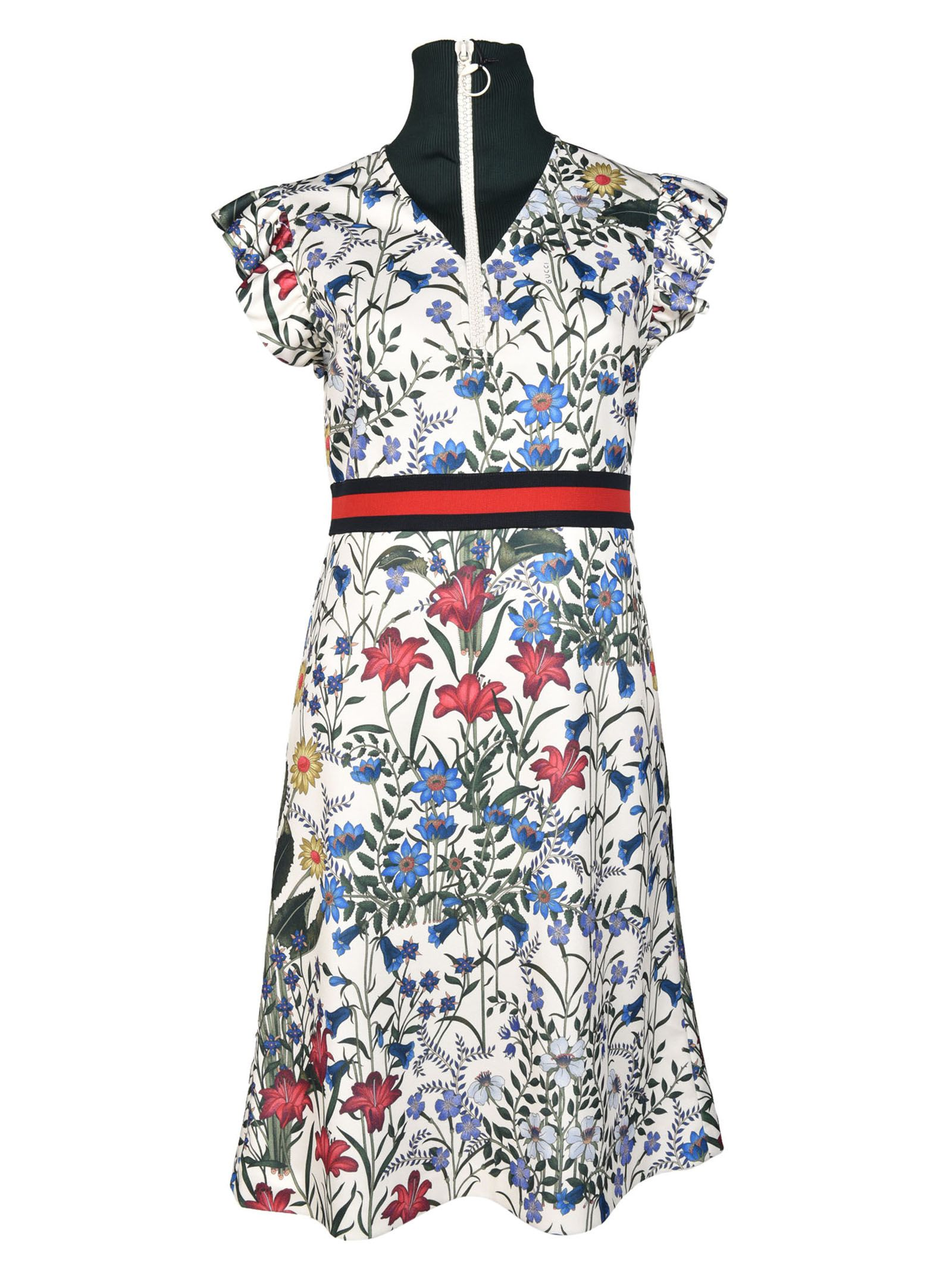 Gucci Floral Pattern Dress