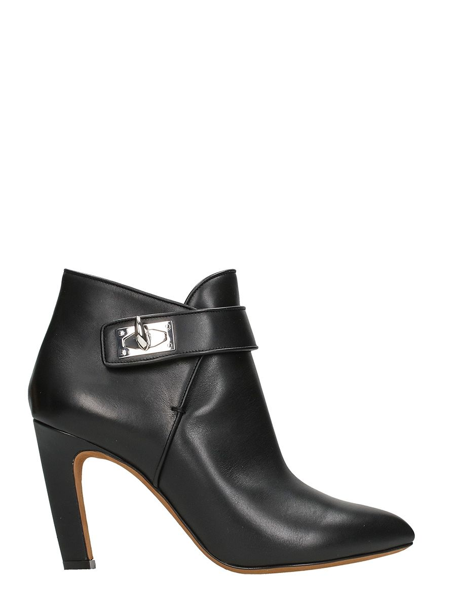 Givenchy Shark Black Leather Ankle Boots