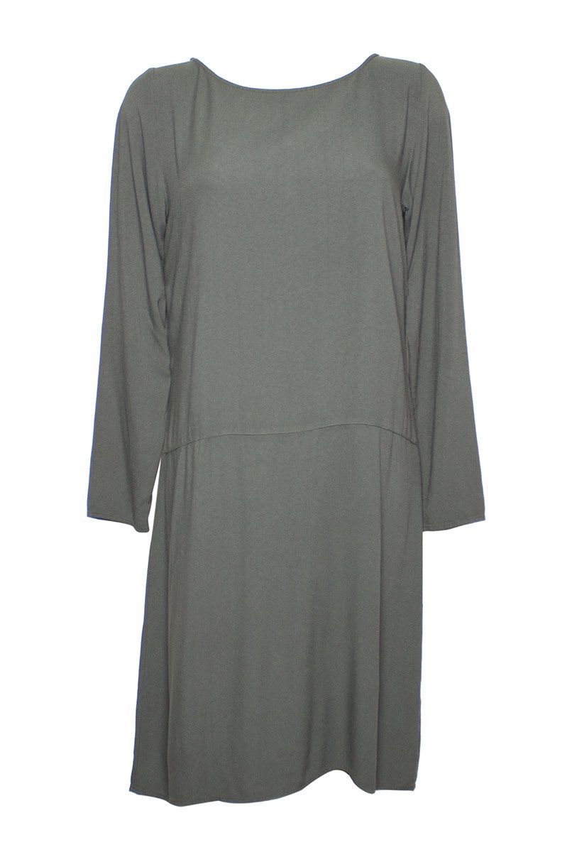 Altalana 100% Viscose Boat Neck Dress