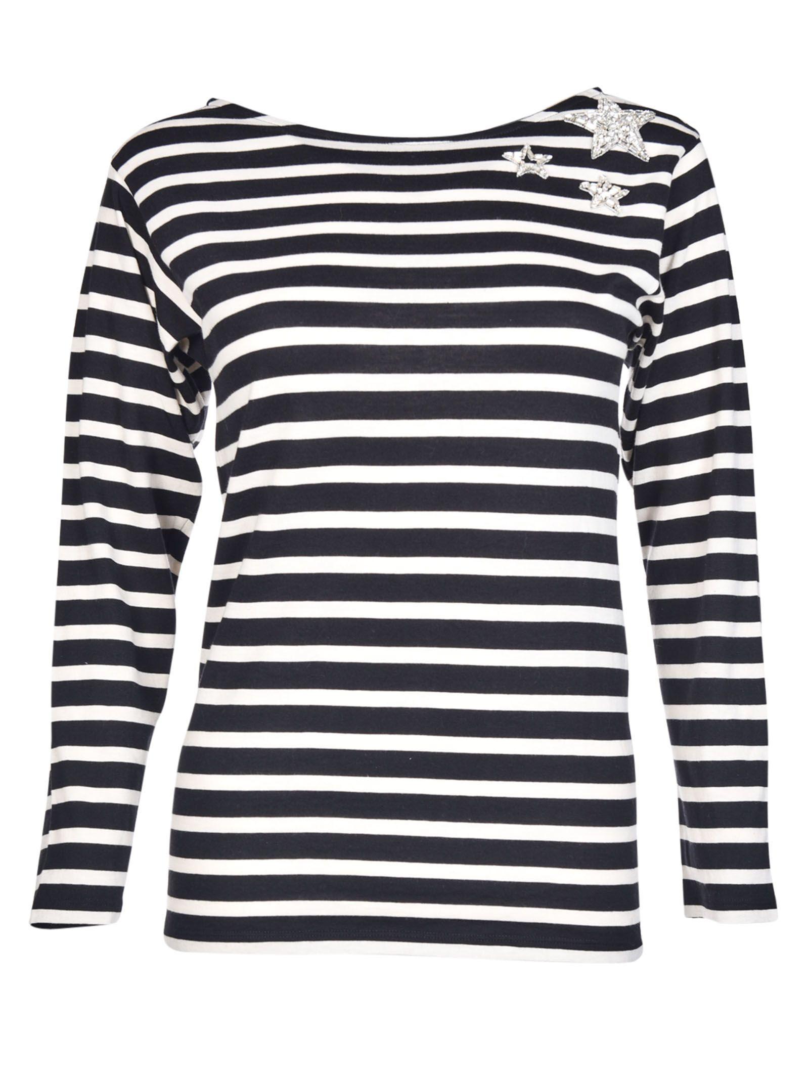 Saint Laurent - Saint Laurent Striped Sweater - Black/White ...