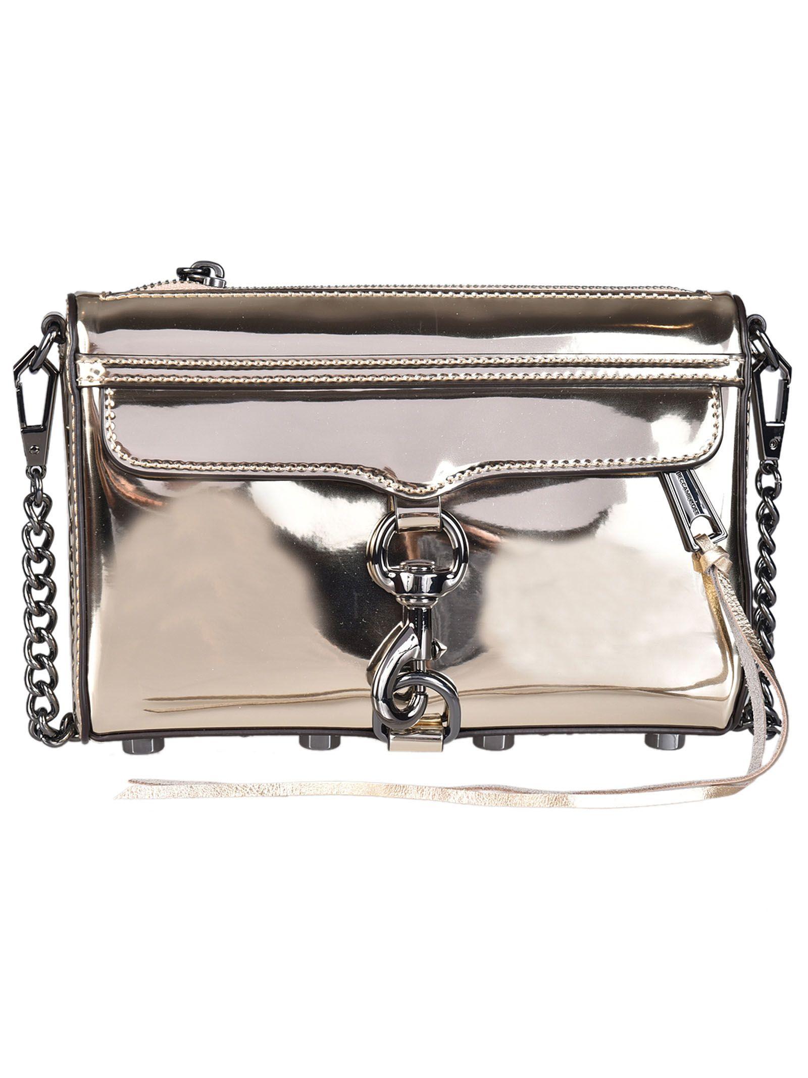 Rebecca Minkoff Mirrored Metallic Mini Shoulder Bag
