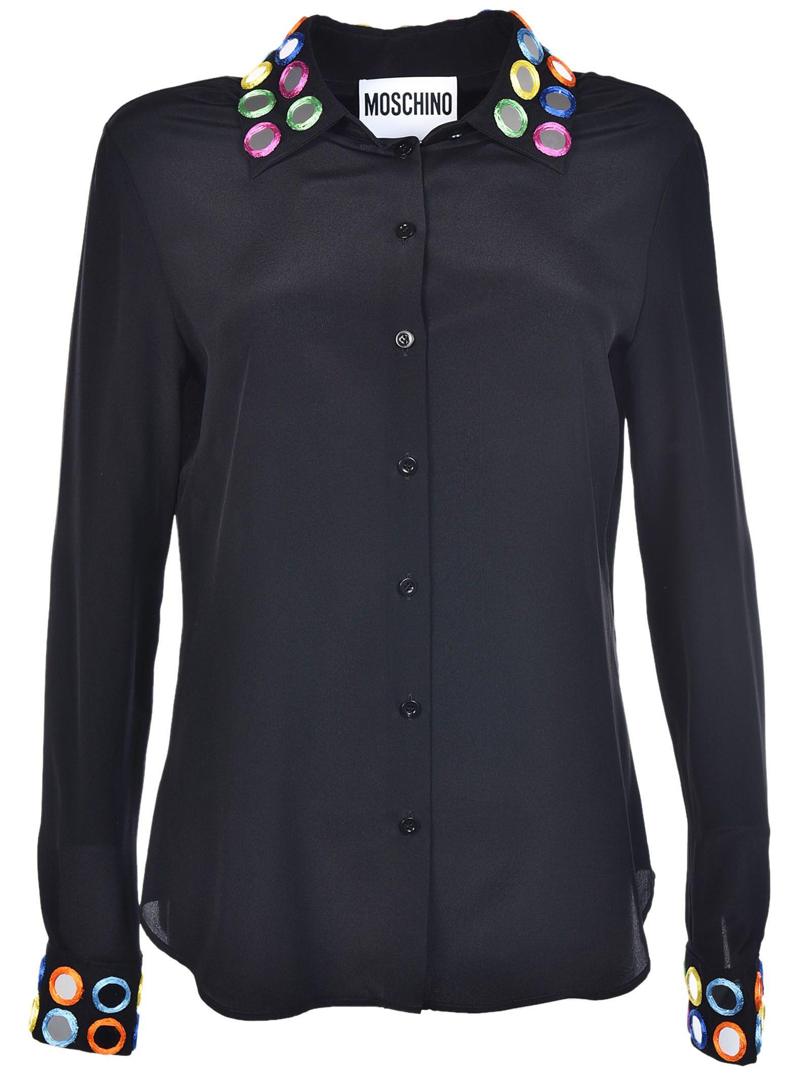 Moschino Mirror Embroidered Shirt