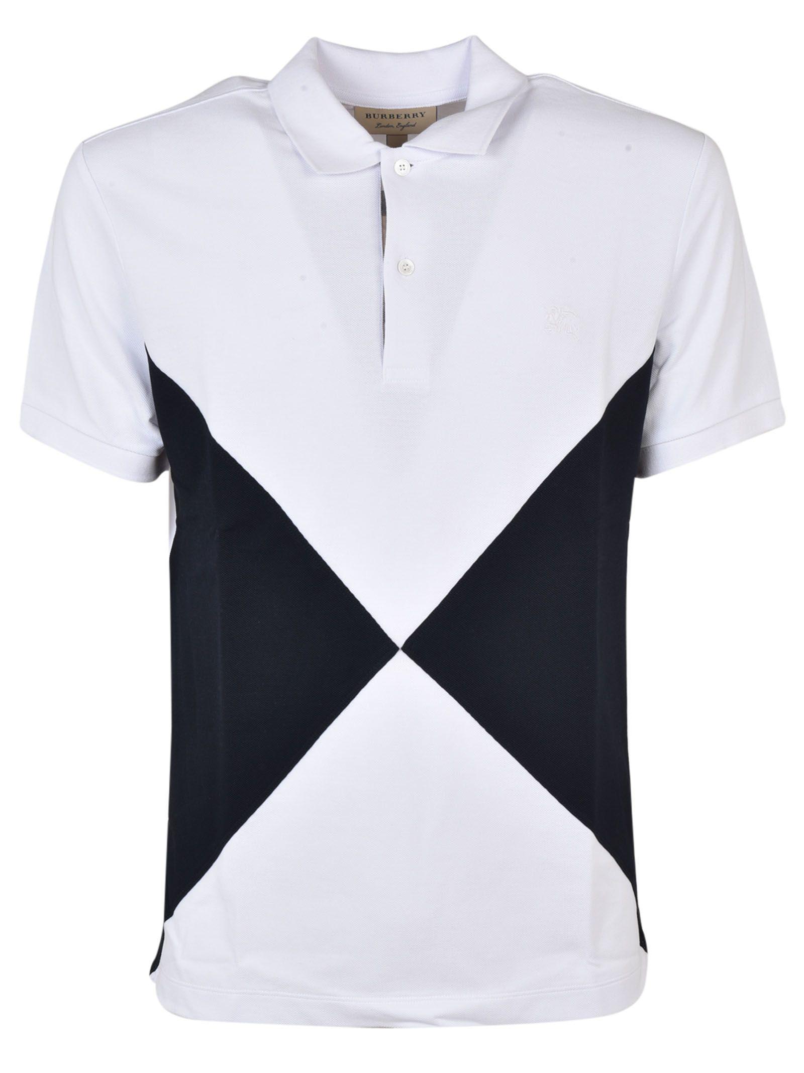 Burberry Diamond Panel Polo Shirt