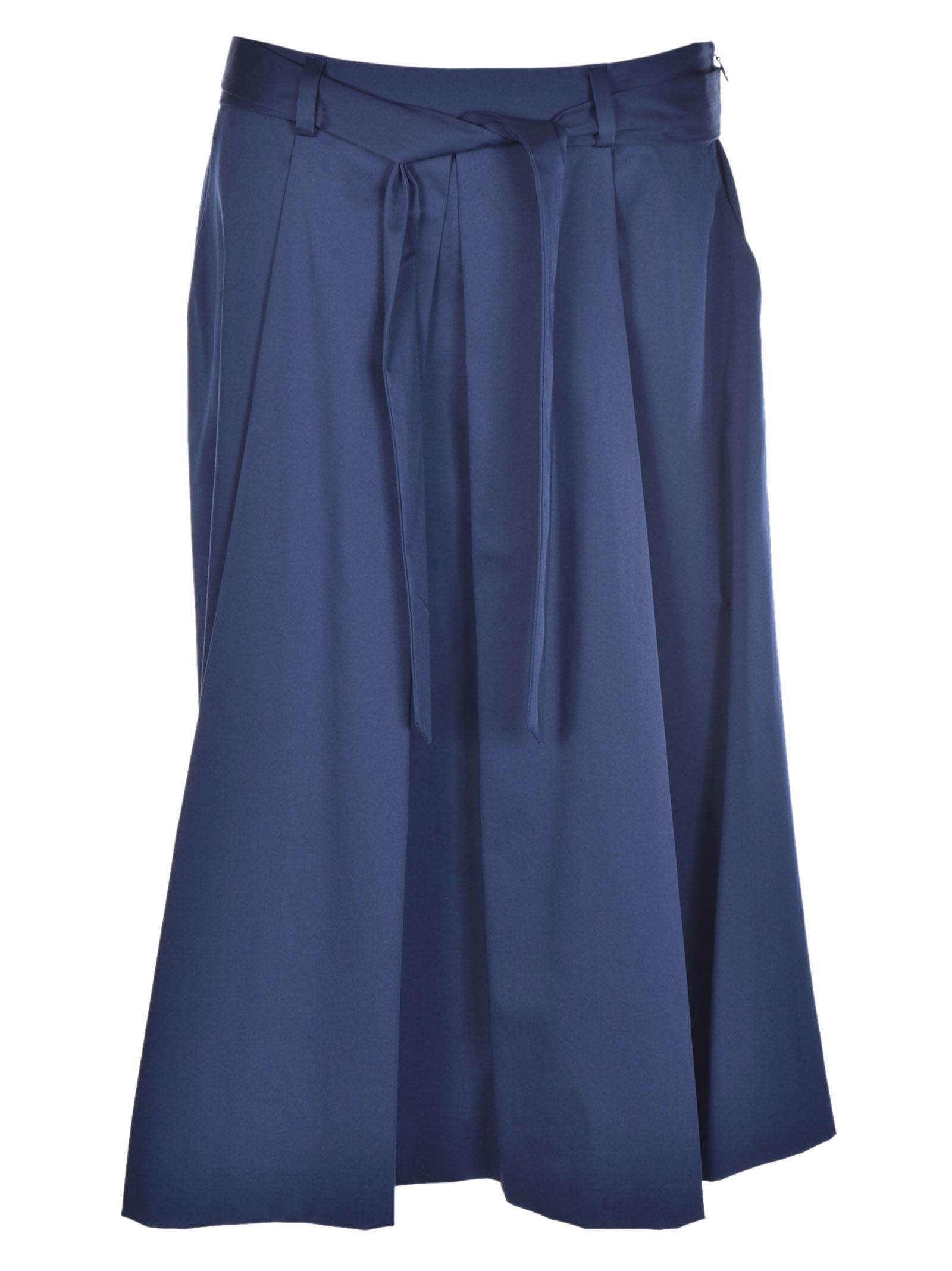 Boutique Moschino Pleated Belted Skirt