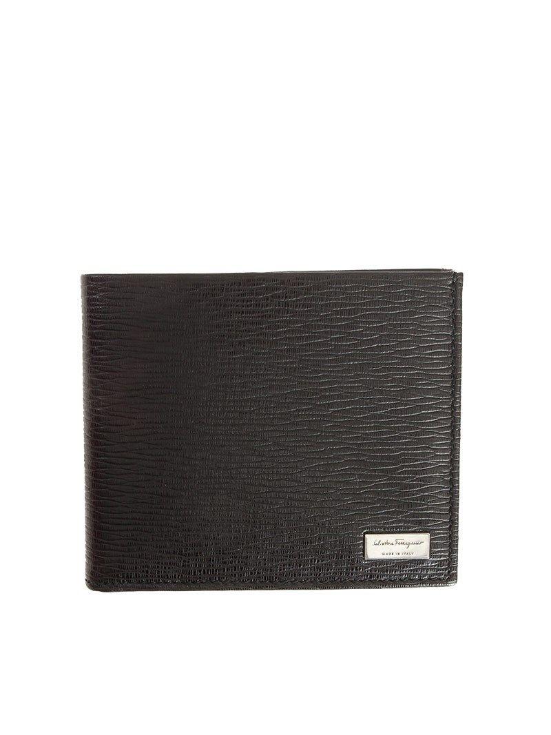 Salvatore Ferragamo Pebbled Leather Wallet