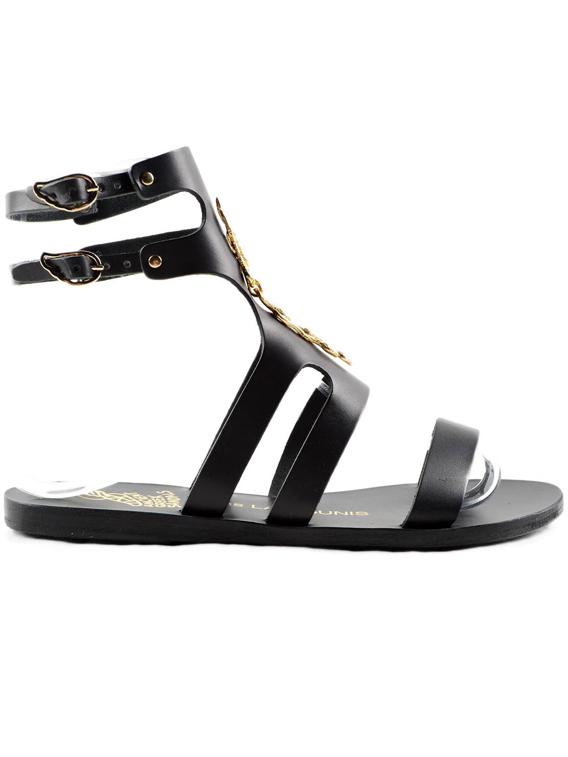 Ancient Greek Sandals Agapi Snakes Flat Sandals