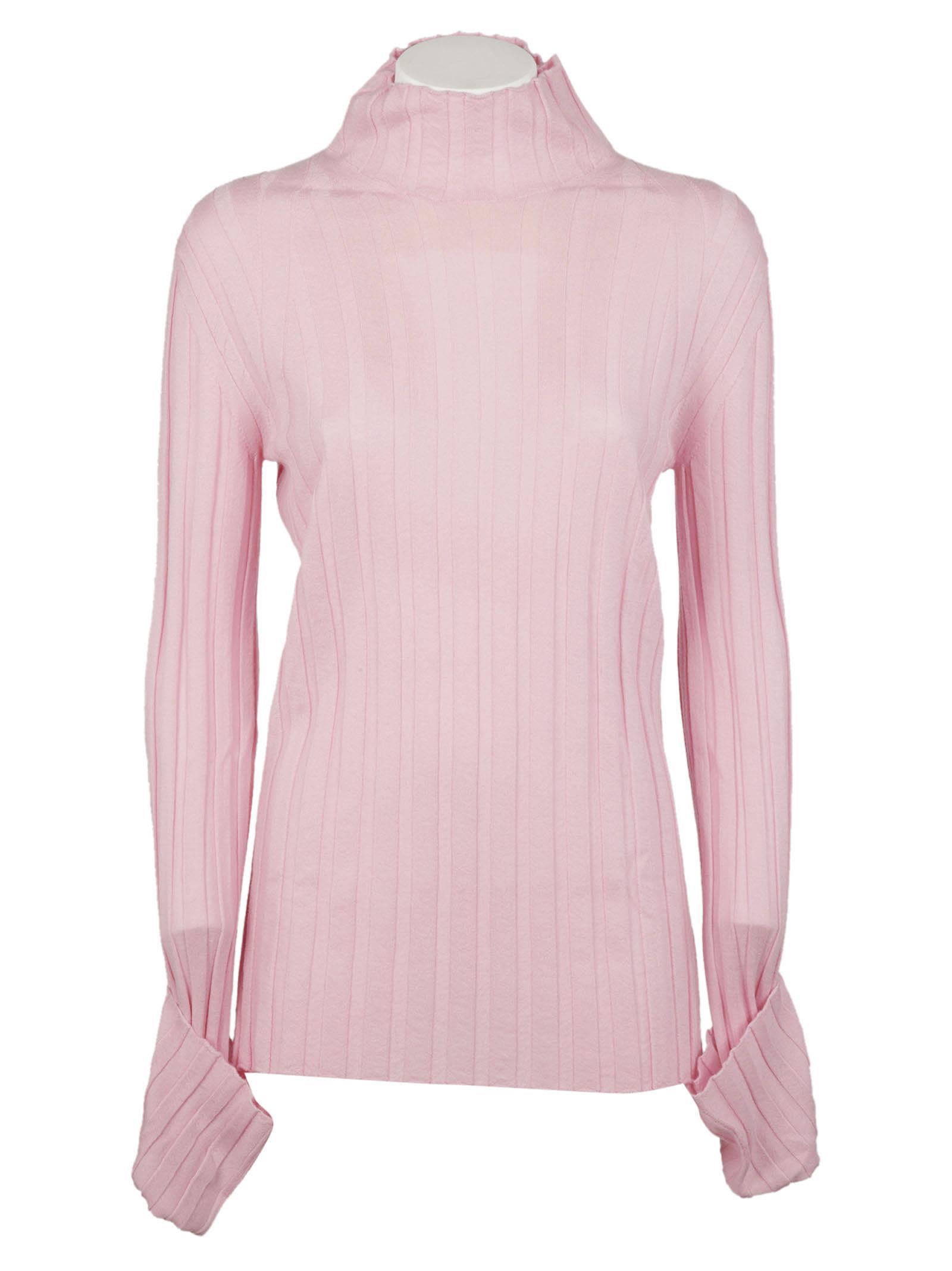 Celine - Celine Knit Sweater - Pale pink, Women's Sweaters | Italist