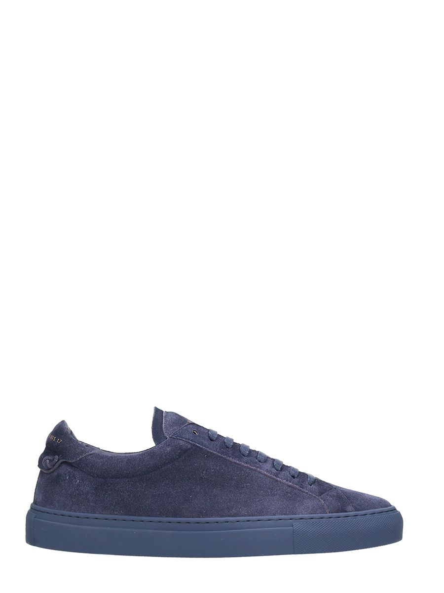 Givenchy Navy Suede Low Sneakers