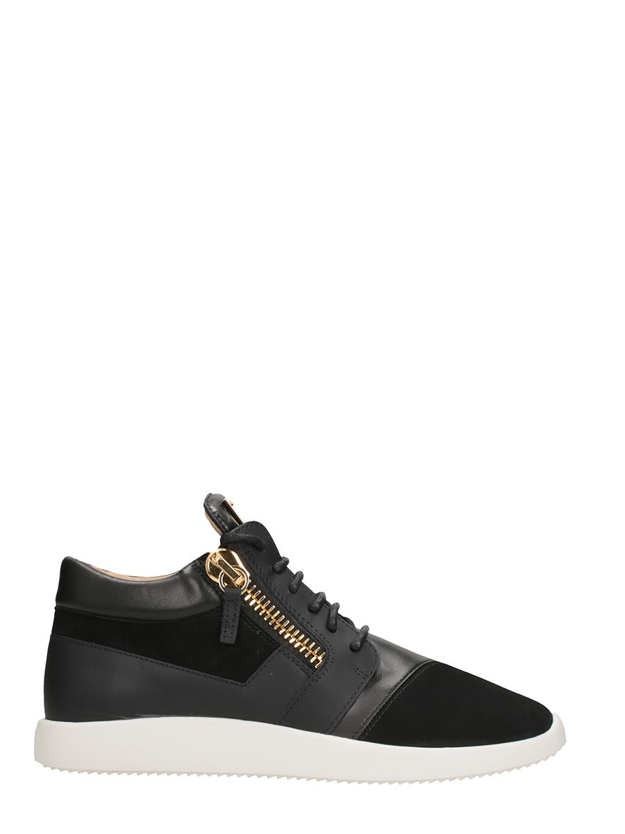 Giuseppe Zanotti Runner Sneakers Black Leather And Suede