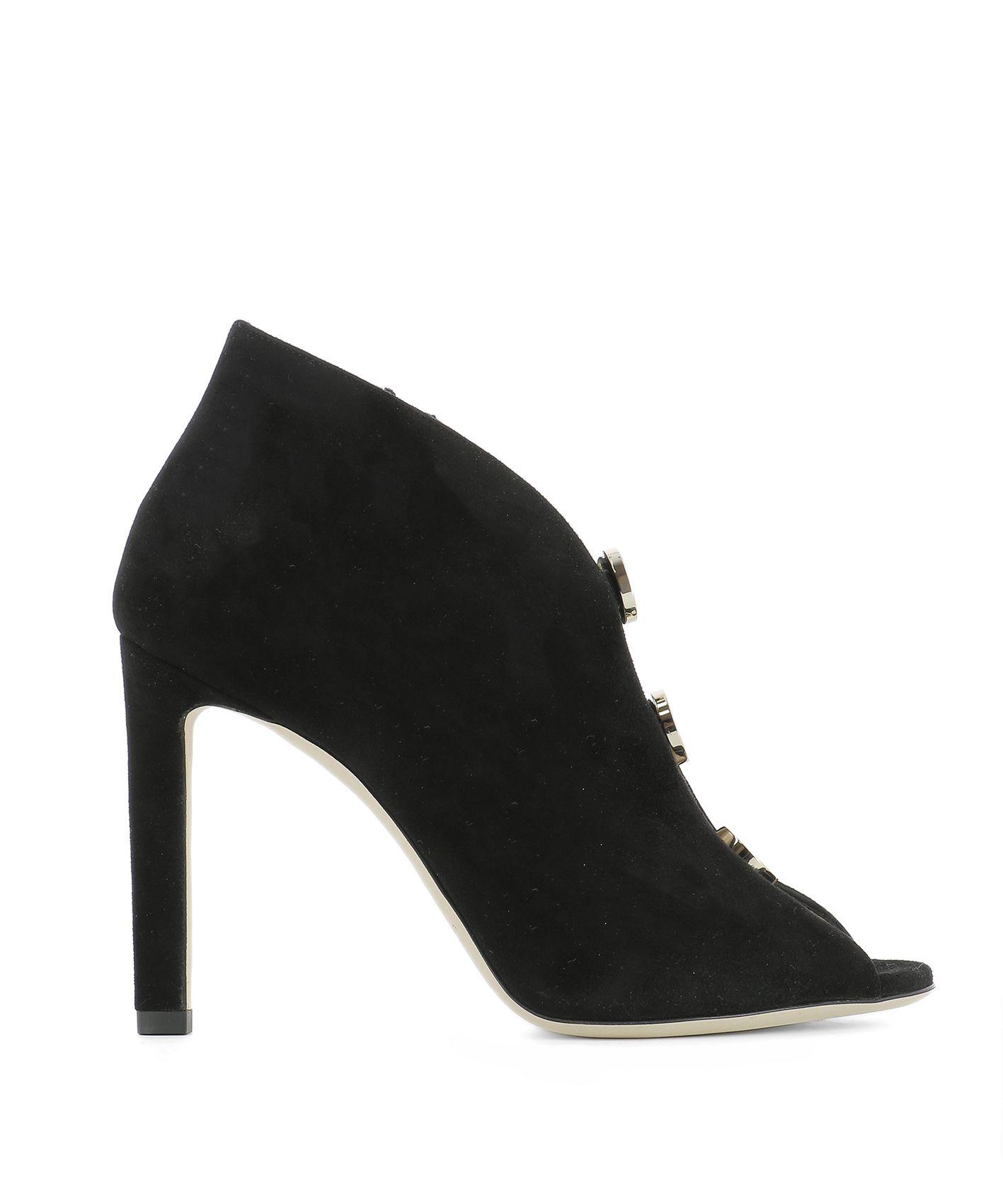 Black Suede Lorna Sandals