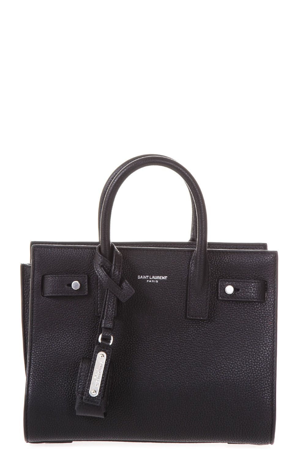 BLACK SAC DU JOUR PEBBLED LEATHER BAG