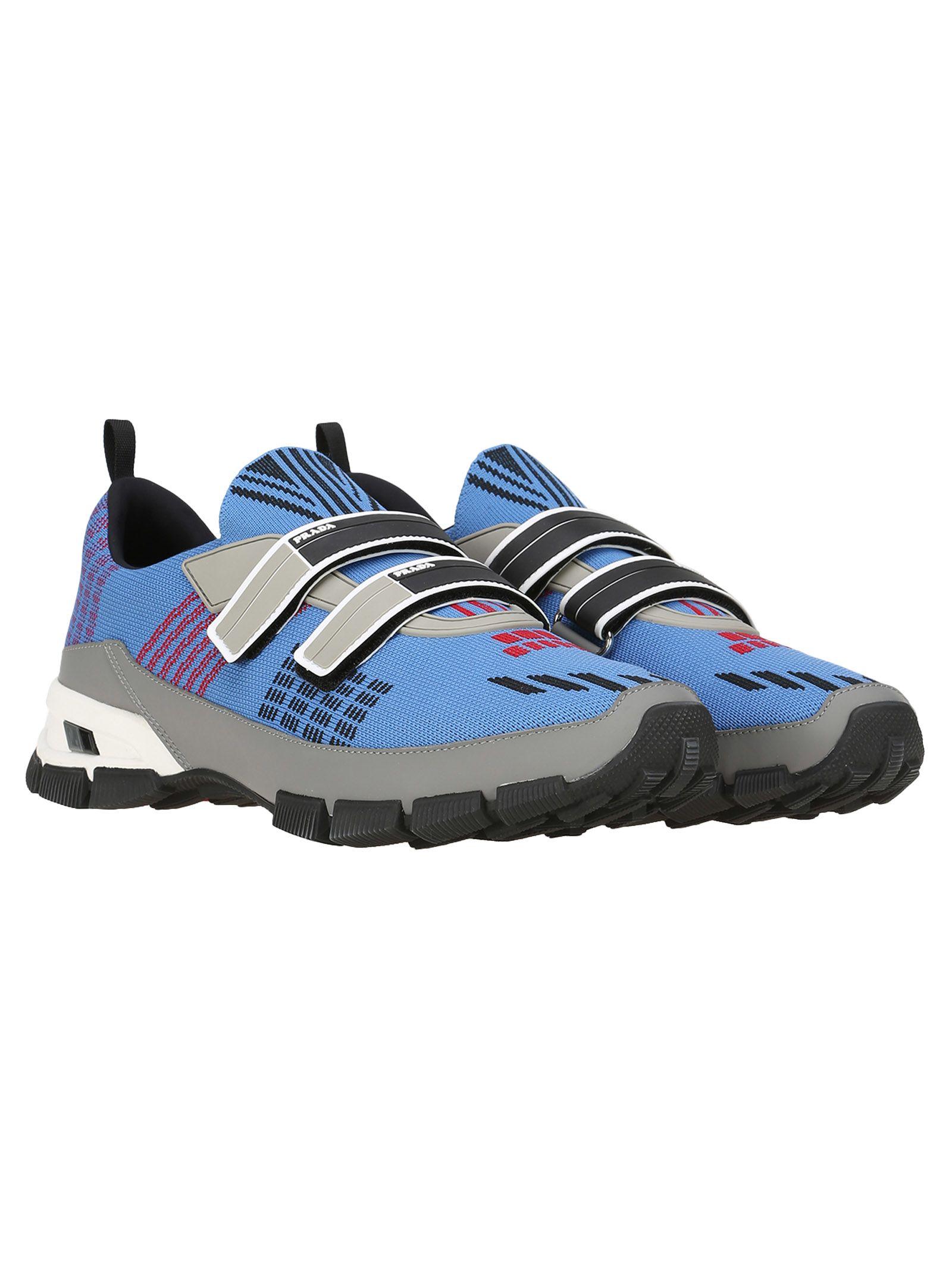colour-block sneakers - Blue Prada