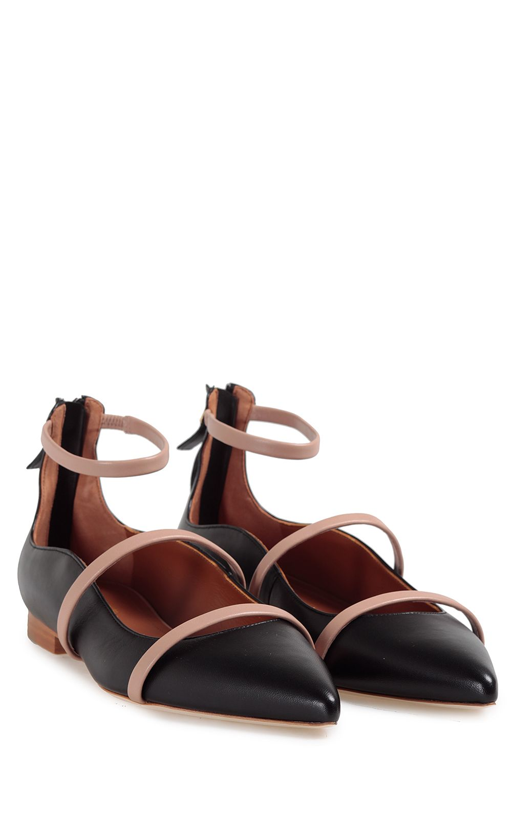 Malone Souliers Robyn Point-toe Leather Flats