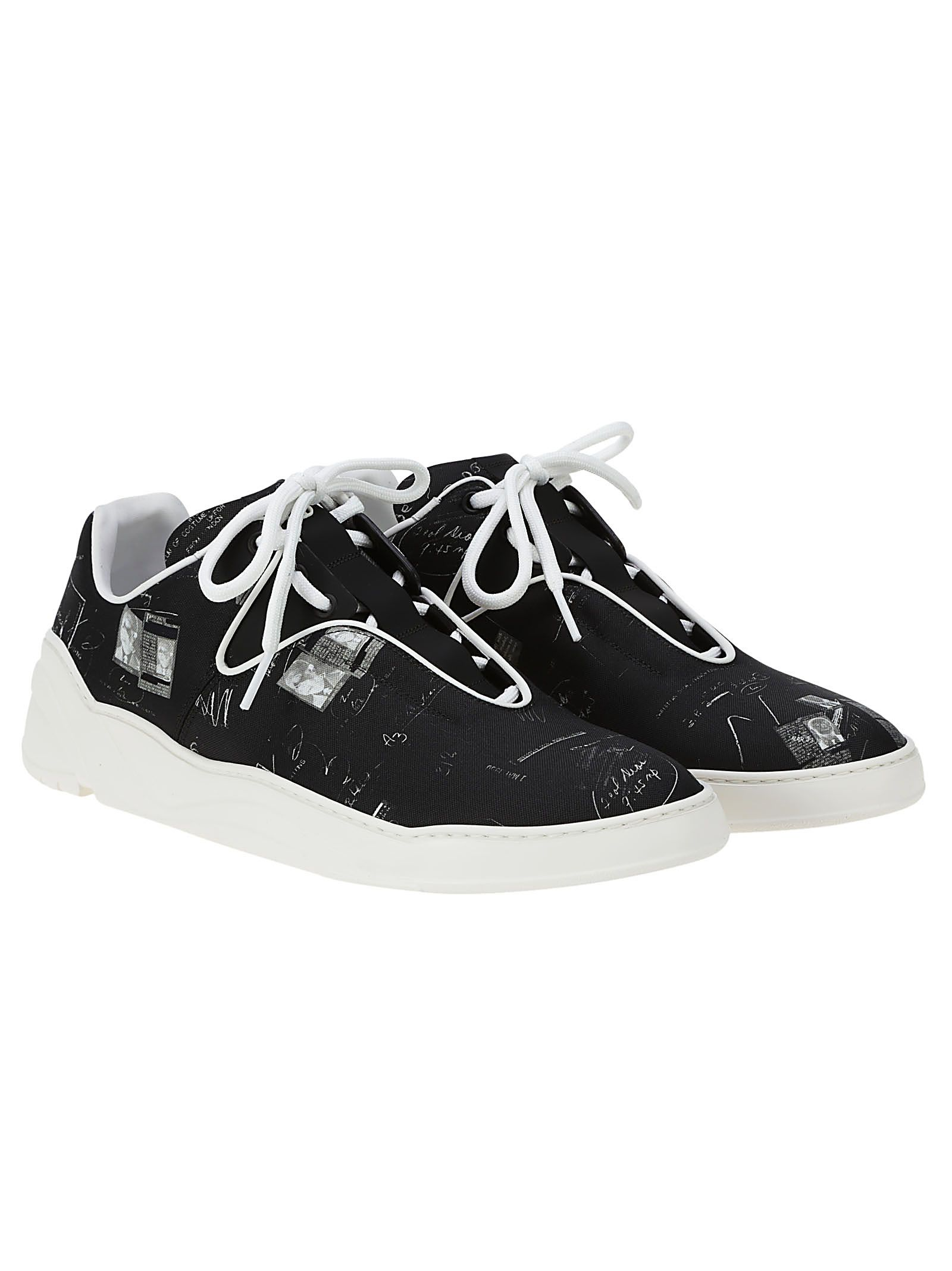 Dior Homme Printed Lace-up Sneakers
