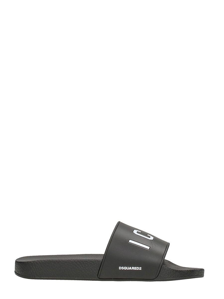 Dsquared2 Icon Pool Black Rubber Slides