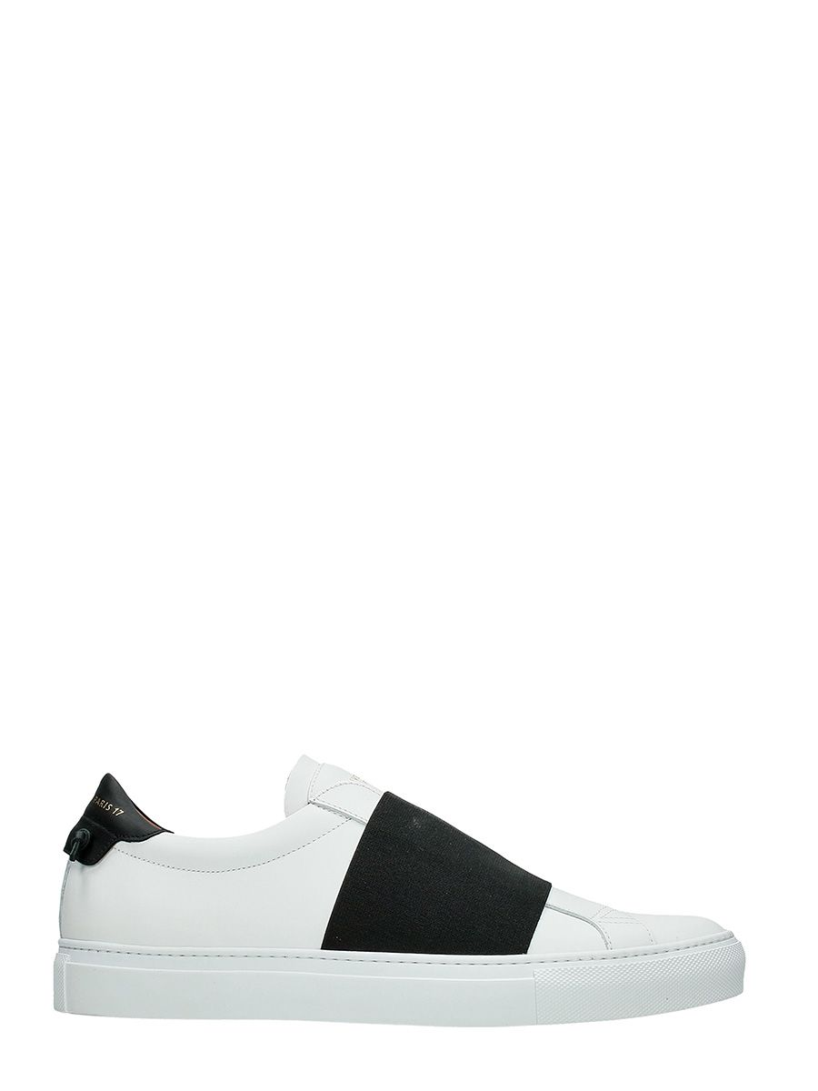 Givenchy Skate Elastic White Leather Sneakers