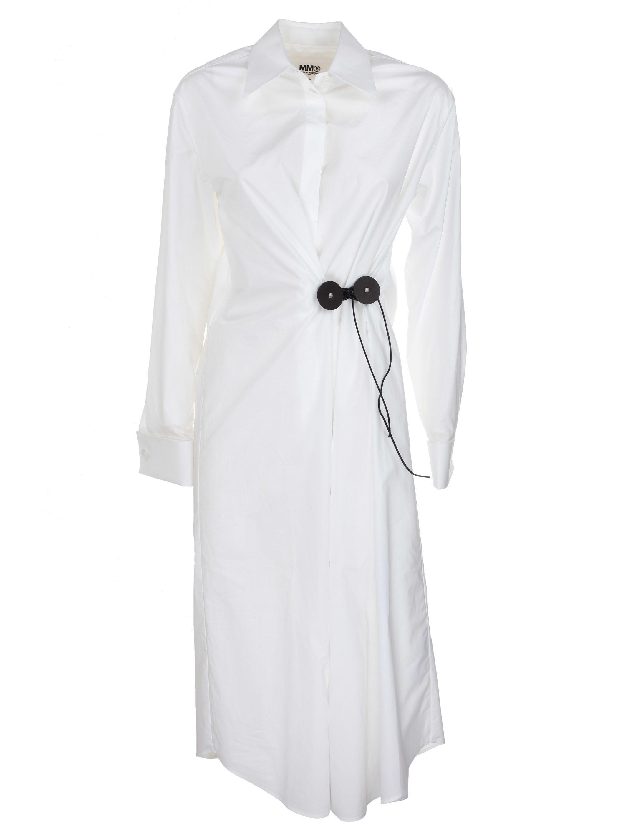 MM6 Maison Margiela Maison Margiela Wrap Shirt Dress