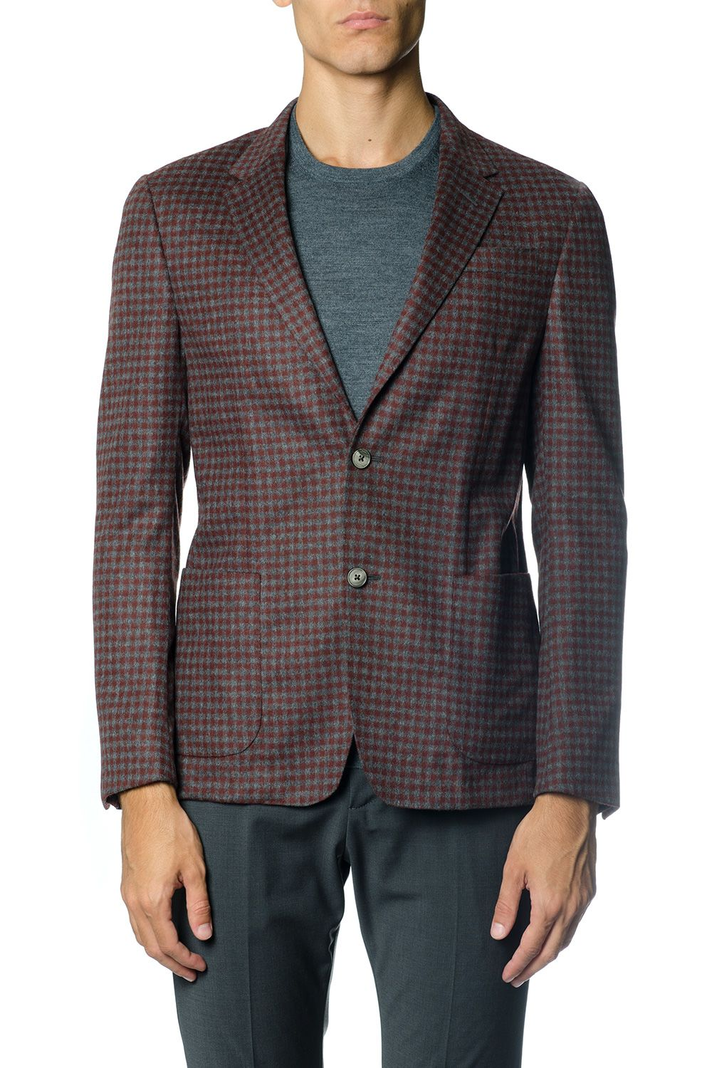 Z Zegna Single Breasted Wool Blend Jacket