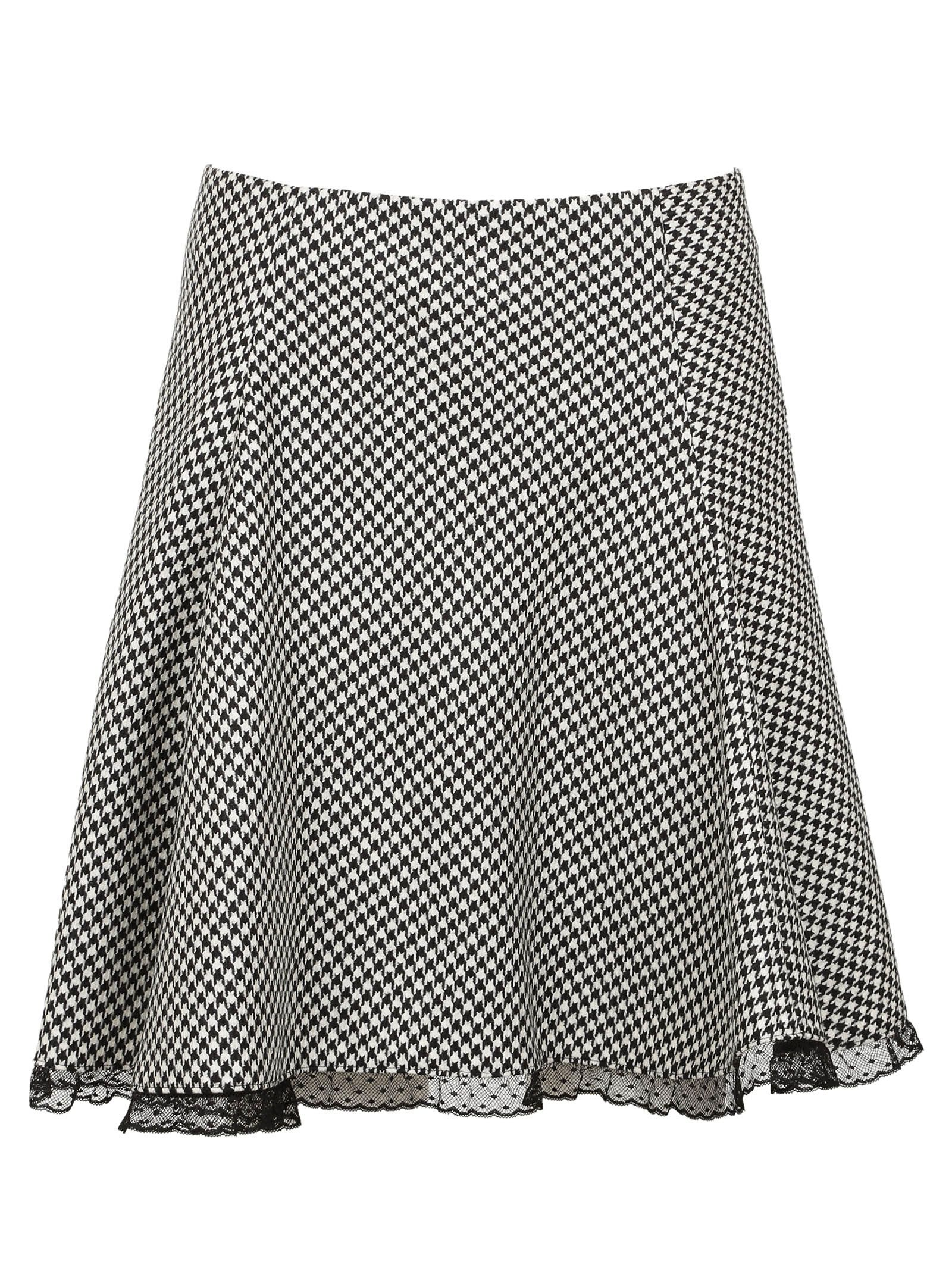 Red Valentino Houndstooth Skirt