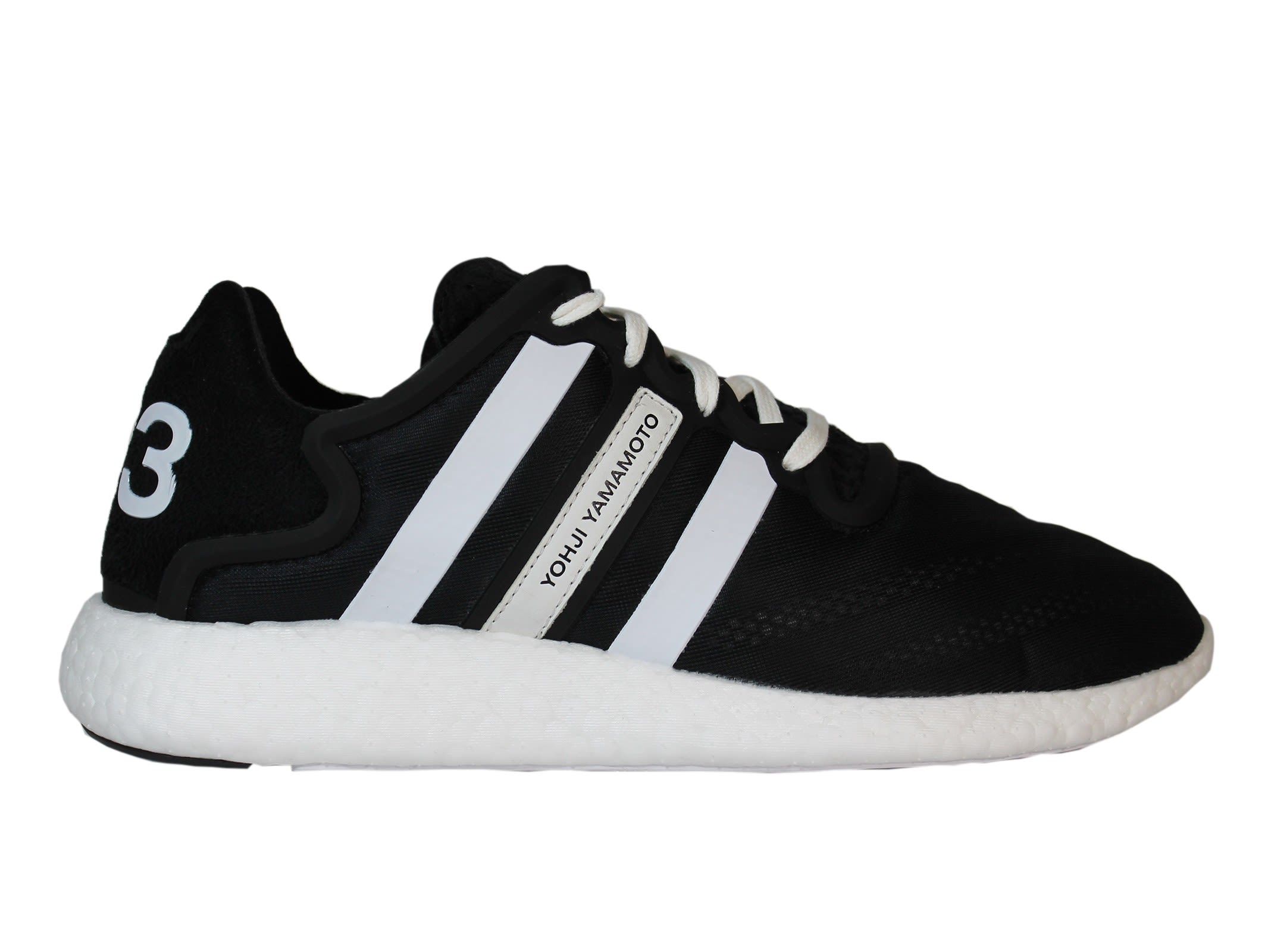 Y-3 Black Yohji Run Low Sneakers