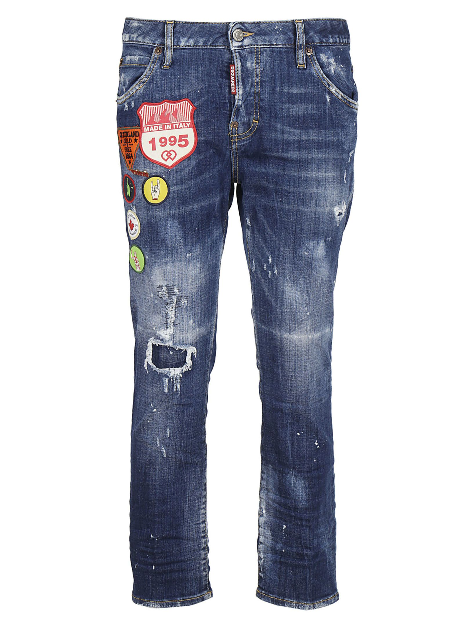 Dsquared2 Cool Girl Patched Jeans