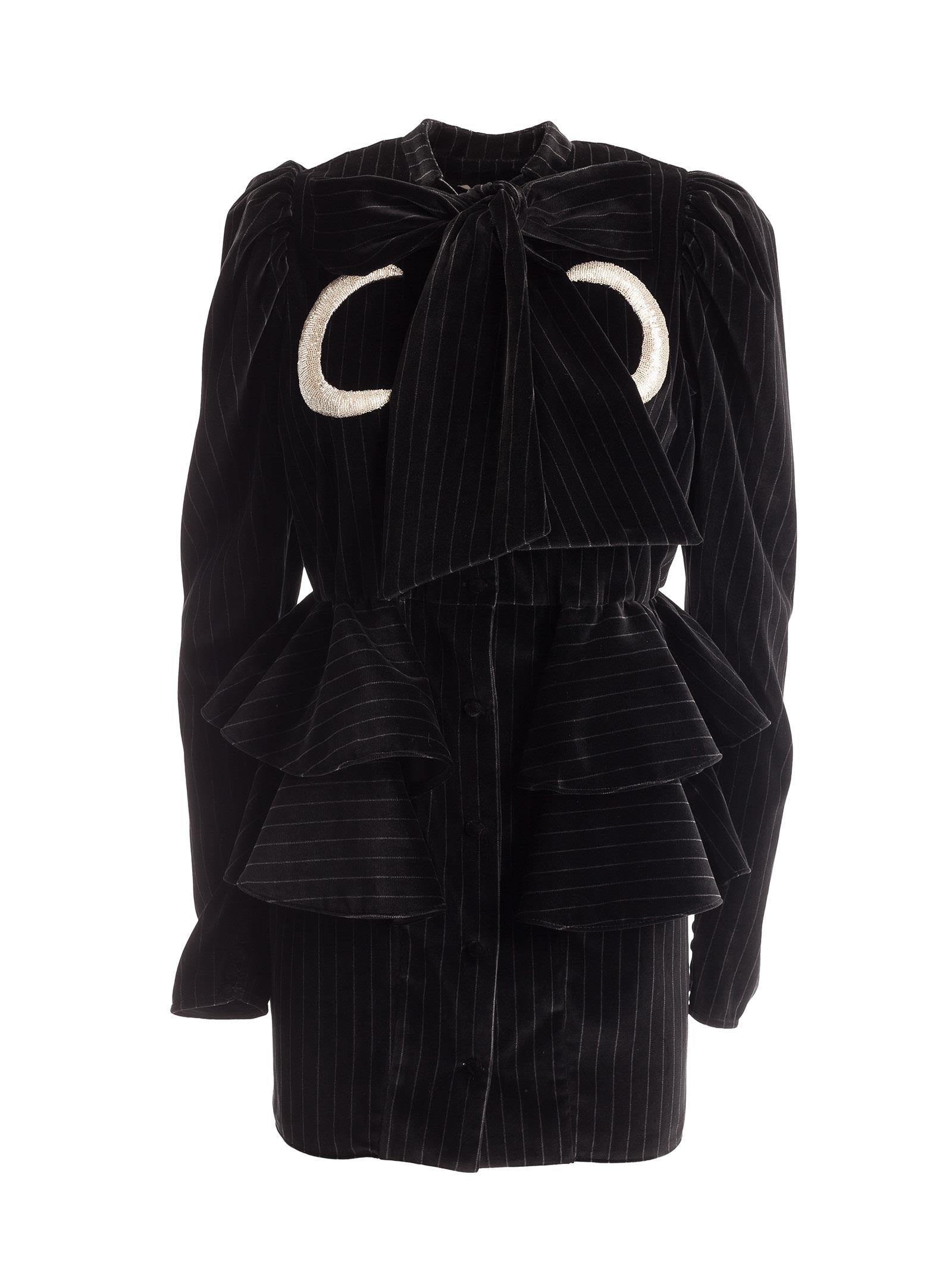 Attico Luna Pinstripe Mini-dress
